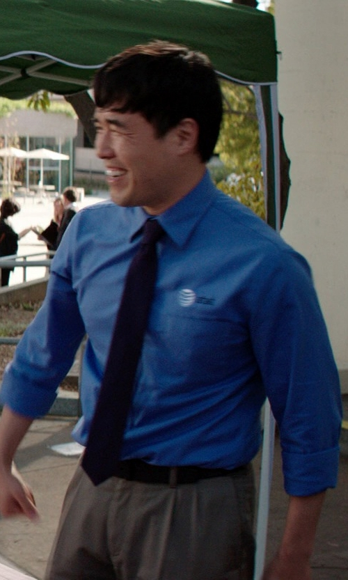 Randall Park with Canali Flat Front Wool Trousers in Neighbors