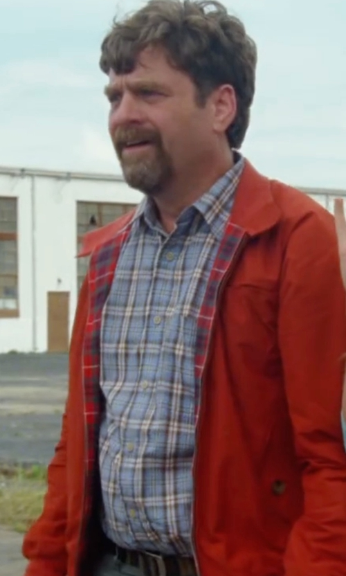 Zach Galifianakis with Tom Ford  Western-Style Bicolor Check Sport Shirt in Keeping Up with the Joneses
