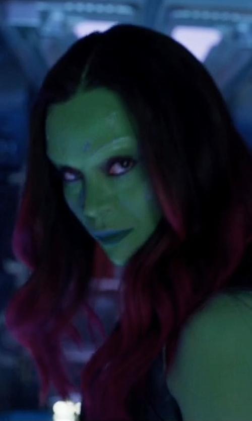 Zoe Saldana with Alexandra Byrne (Costume Designer) Custom Made Gamora Uniform in Guardians of the Galaxy Vol. 2
