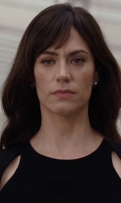 Maggie Siff with T By Alexander Wang Cutout Stretch-Jersey Top in Billions