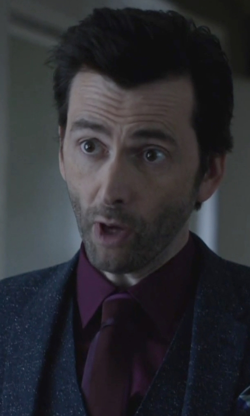 David Tennant with Balmain Tie in Jessica Jones