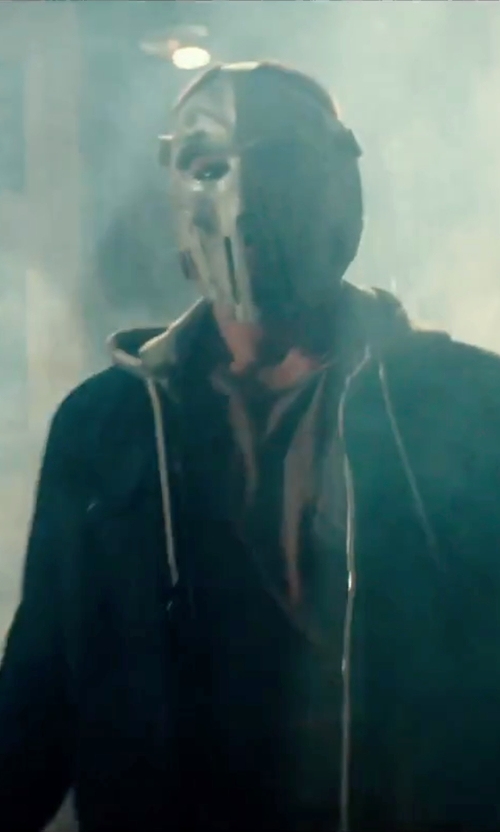 Stephen Amell with XCoser Ninja Turtles Casey Jones Mask in Teenage Mutant Ninja Turtles: Out of the Shadows
