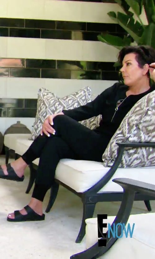 Kris Jenner with Birkenstock 'Monterey' Leather Sandals in Keeping Up With The Kardashians