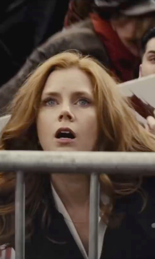Amy Adams with Dsquared2 Poplin Button Down Shirt in Batman v Superman: Dawn of Justice