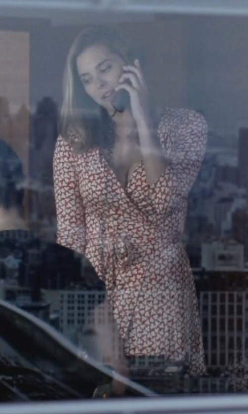 Susie Abromeit with Diane Von Furstenberg New Julian Two Silk Jersey Wrap Dress in Jessica Jones