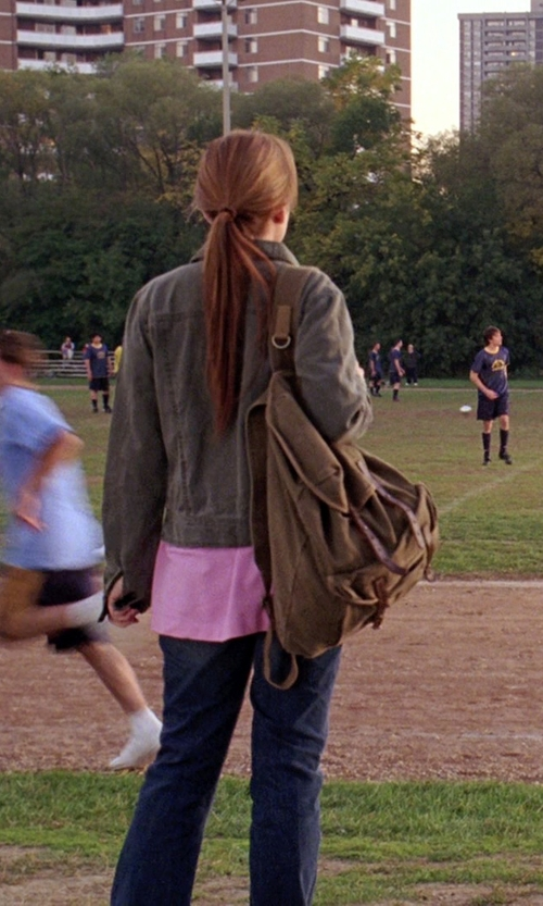Lindsay Lohan with Bed Stu Columbus Backpack in Mean Girls