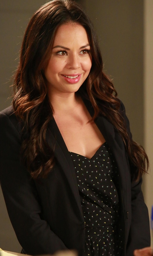 Janel Parrish with Hache Hook Fastening Blazer in Pretty Little Liars