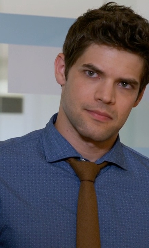 Jeremy Jordan with Brio Printed Button Shirt in Supergirl