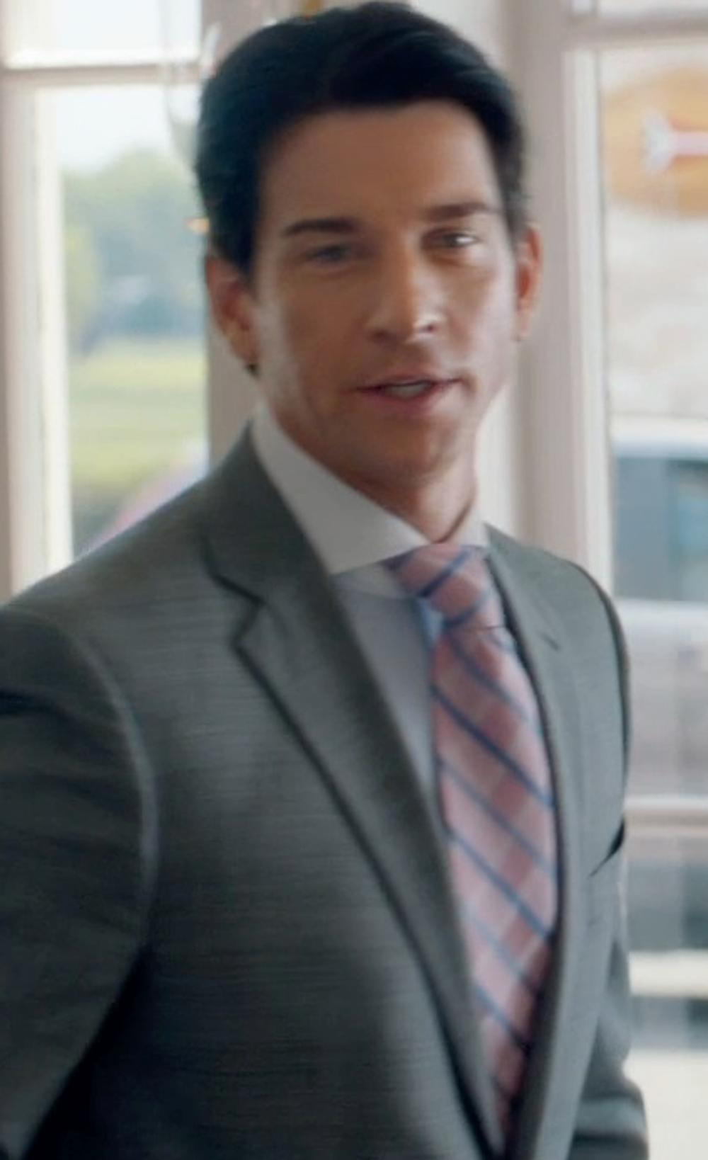 Andy Karl with Nordstrom Woven Silk Tie in And So It Goes