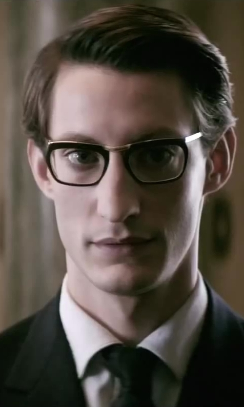 Pierre Niney with Super People Black/Gold Metal 347 Eyeglasses in Yves Saint Laurent