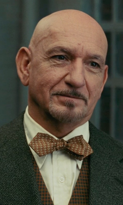 Ben Kingsley with Dolce & Gabbana Plaid Bow Tie in Shutter Island