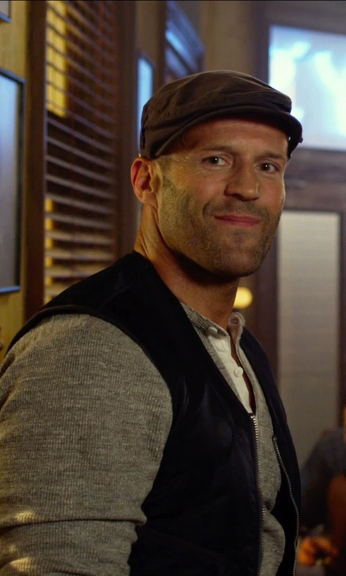 Jason Statham with Carhartt Men's Sherpa Lined Sandstone Duck Rugged Vest in The Expendables 3