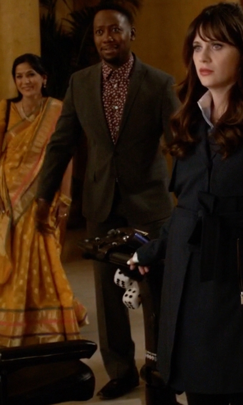 Lamorne Morris with Boss T-Hacer/Gage Italian Virgin Wool And Silk Suit in New Girl