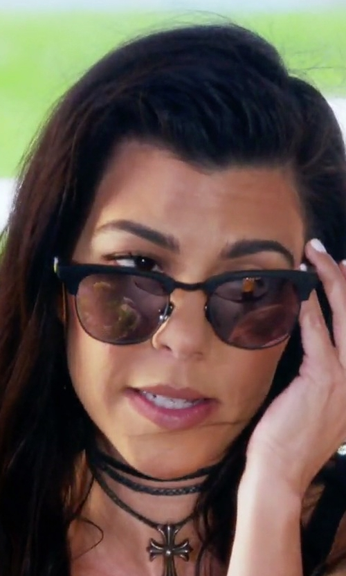 Kourtney Kardashian with Tom Ford Eyewear Fany Square Sunglasses in Keeping Up With The Kardashians