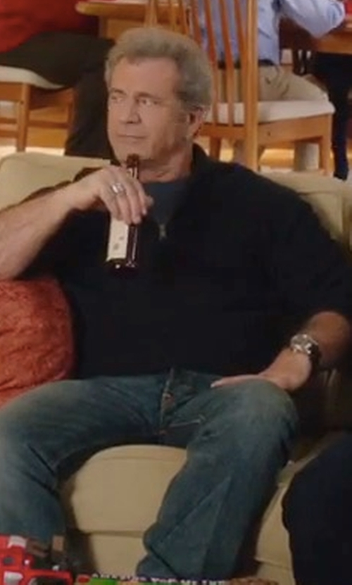 Mel Gibson with Barneys New York Wool Half-Zip Sweater in Daddy's Home 2