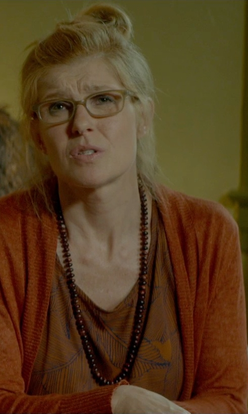 Connie Britton with SwaggWood Wooden Bead Necklace in Me and Earl and the Dying Girl