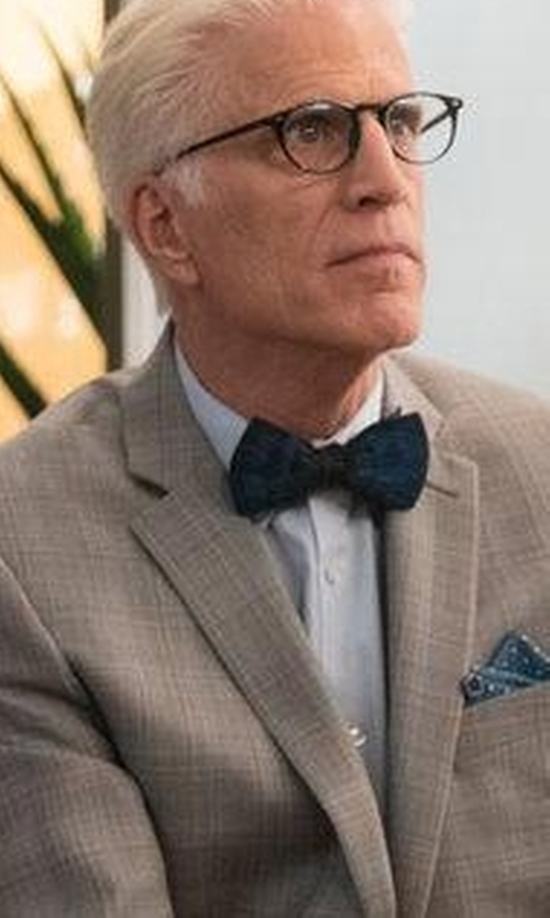 Ted Danson with Brackish Bowties Midnight Bow Tie in The Good Place