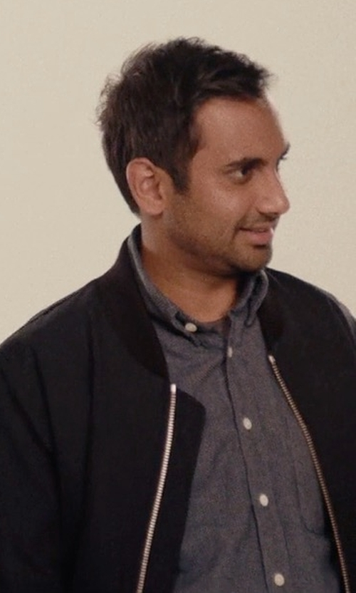 Aziz Ansari with Sandro Bomber Jacket in Master of None