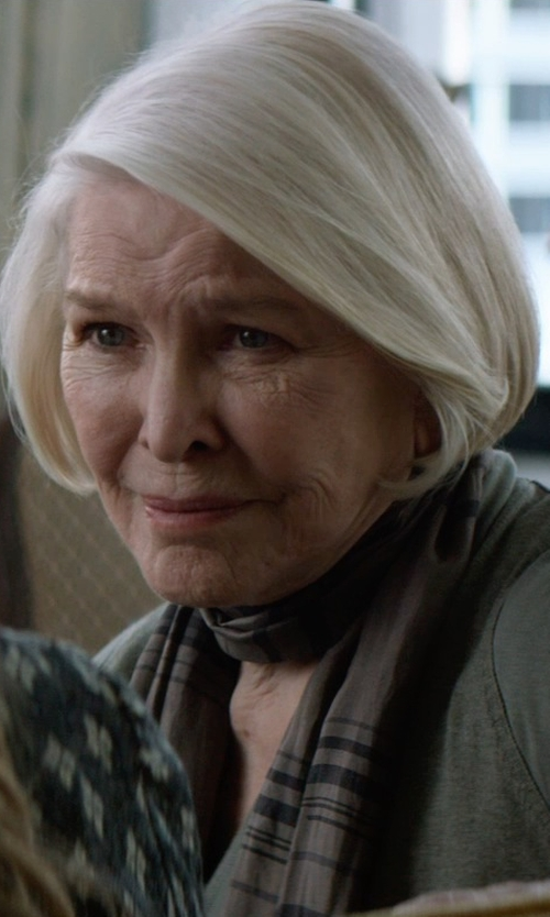Ellen Burstyn with Halston Heritage V-Neck Brush Knit Sweater in The Age of Adaline