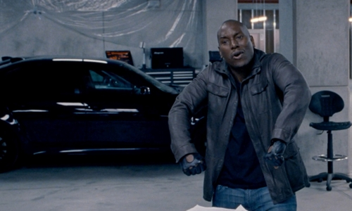 Tyrese Gibson with BMW M5 E60 Sedan in Fast & Furious 6