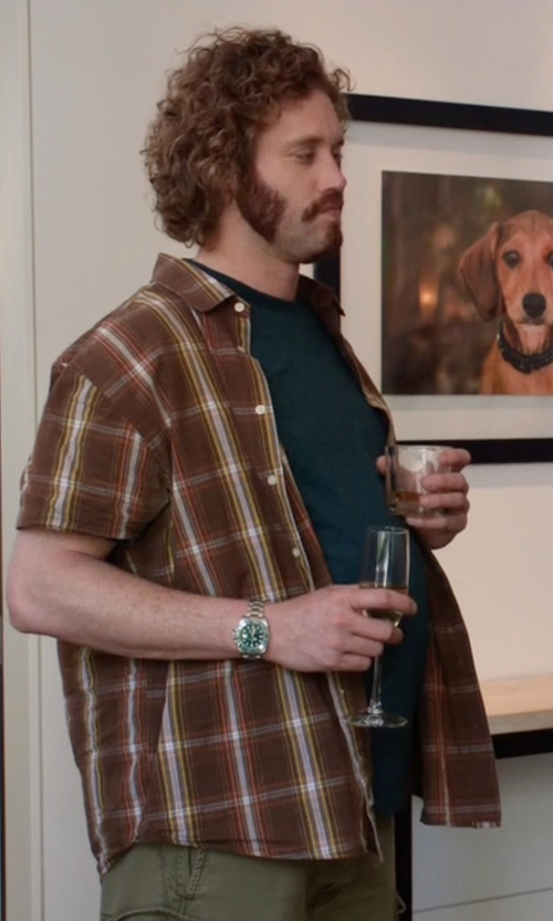 T.J. Miller with Wrangler George Strait Collection One Pocket Shirt in Silicon Valley