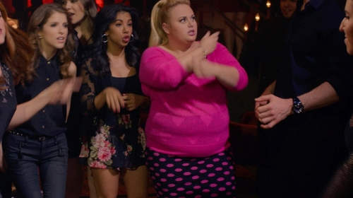 Chrissie Fit with Band of Gypsies Crochet Trim Floral Shorts in Pitch Perfect 2