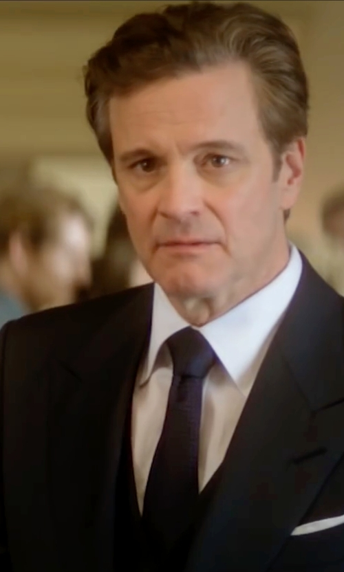 Colin Firth with Tagliatore Two Piece Suit in Bridget Jones's Baby
