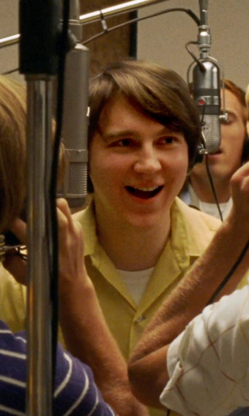 Paul Dano with Club Room Solid Twill Pocket Shirt in Love & Mercy