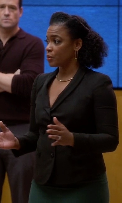 Aunjanue Ellis with Hells Bells Double Breasted Blazer in Quantico