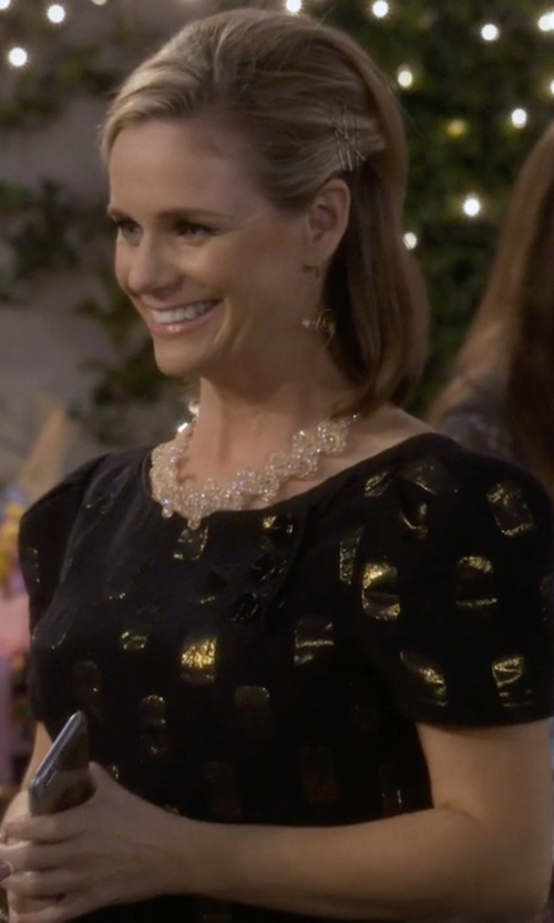 Andrea Barber with Kate Spade New York 'Pansy Blossoms' Collar Necklace in Fuller House