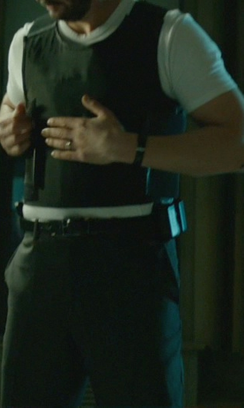 Keanu Reeves with Will Leather Goods 'Skiver' Skinny Leather Belt in John Wick