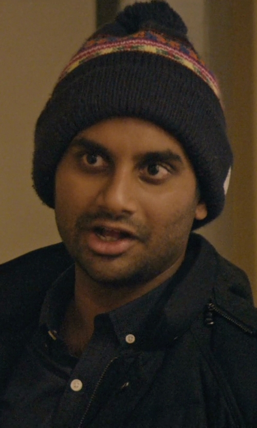 Aziz Ansari with Penfield Neon Pattern Beanie in Master of None