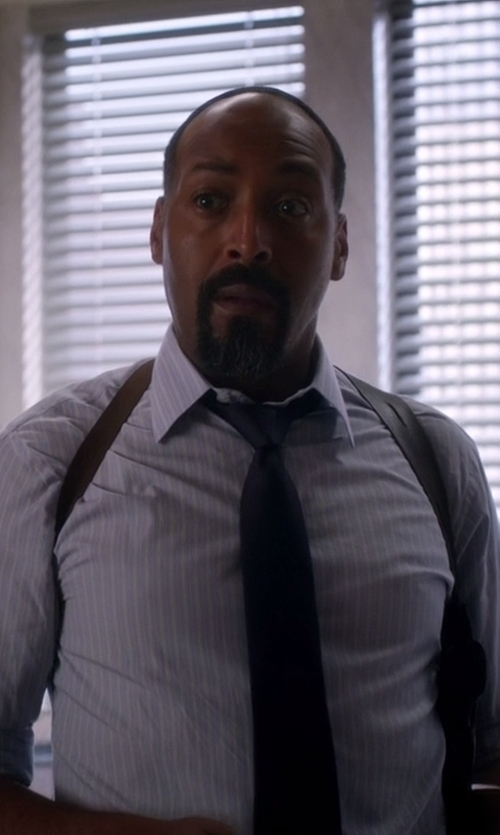 Jesse L. Martin with Alessandro Dell'acqua Solid Tie in The Flash
