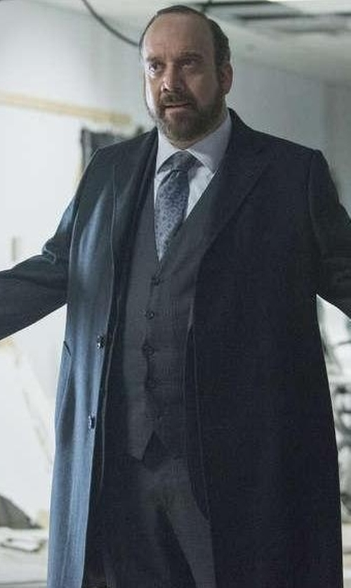 Paul Giamatti with Dsquared2 Three-Piece Suit in Billions