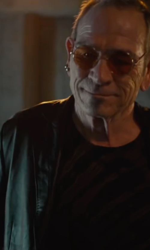 Tommy Lee Jones with Cole Haan Smooth Leather Moto Jacket in Mechanic: Resurrection