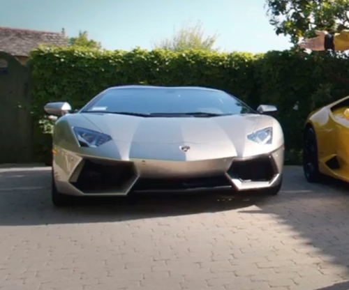 Andy Samberg with Lamborghini Aventador LP 700-4 Roadster Car in Popstar: Never Stop Never Stopping