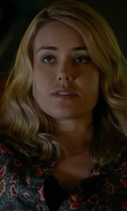 Megan Boone with Polo Ralph Lauren Lace-Trim Cotton Tank Top in The Blacklist