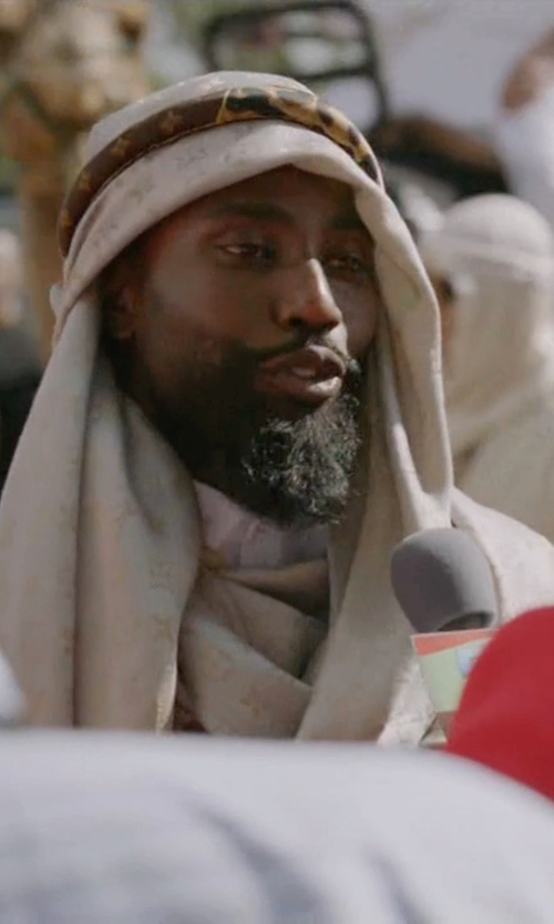 John David Washington with RG Costumes Arabian Headdress in Ballers
