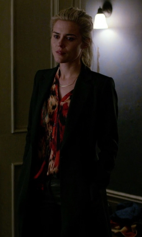 Rachael Taylor with Barbara Bui Leather Pants in Jessica Jones
