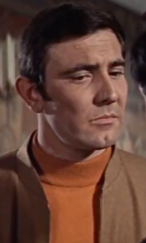 George Lazenby with Paolo Pecora Turtleneck Sweater in On Her Majesty's Secret Service