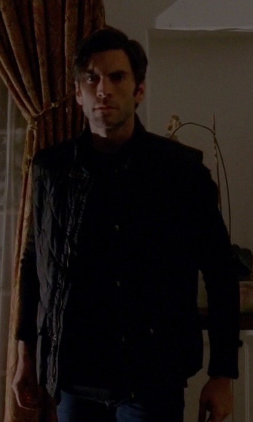 Wes Bentley with Belstaff Quilted Vest in American Horror Story
