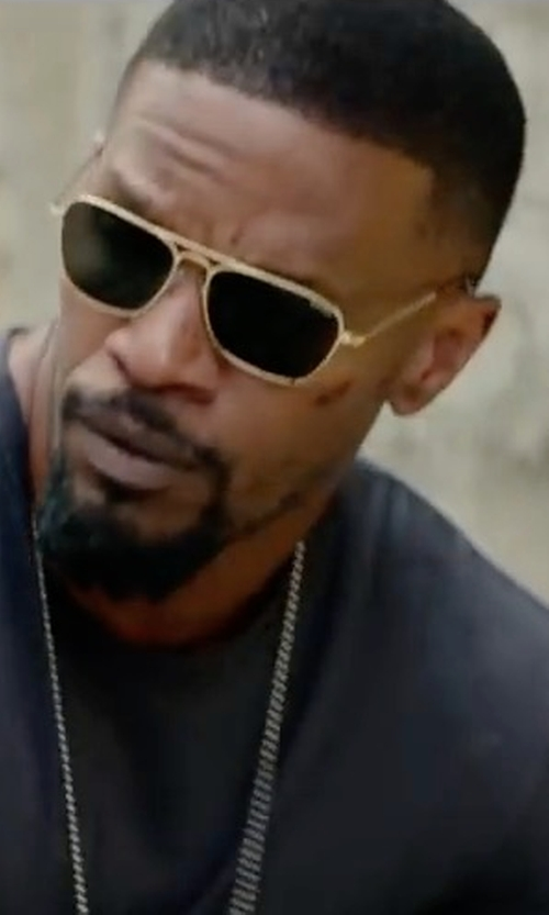 Jamie Foxx with Randolph Engineering Intruder Sunglasses in Sleepless