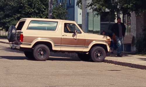 Liam Hemsworth with Ford 1985 F-250 Pick Up Truck in Cut Bank
