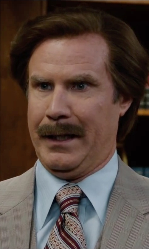 Will Ferrell with Nordstrom Woven Silk Tie in Anchorman 2: The Legend Continues