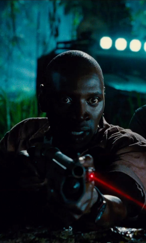 Omar Sy with G-Shock 'Gravity Master' Digital Compass Resin Watch in Jurassic World
