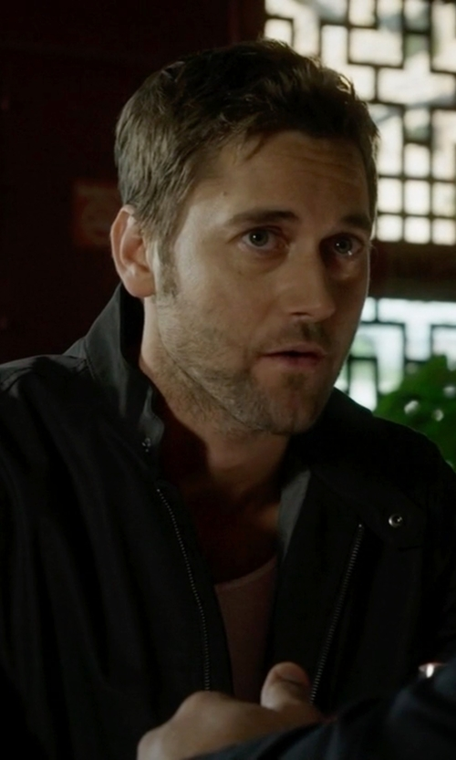 Ryan Eggold with G Star Faux Leather Jacket in The Blacklist