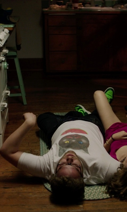 Seth Rogen with Nike Air Jordan 1 Mid Mens Green Leather Basketball Shoes in Neighbors