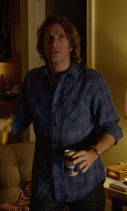 Thomas Jane with Michael Kors 'Gage' Chronograph Leather Strap Watch in Before I Wake