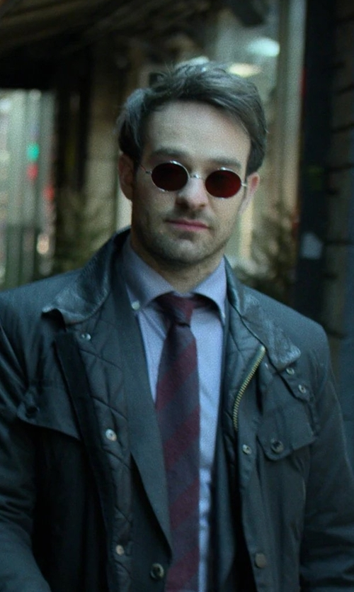 Charlie Cox with Marc New York Andrew Marc Harbor Field Jacket in Marvel's The Defenders