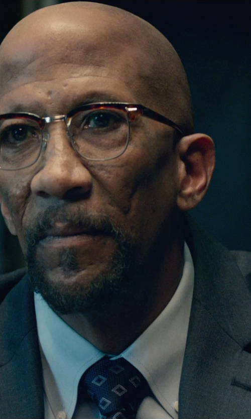 Reg E. Cathey with Burberry London Prince of Wales Check Suit in Fantastic Four